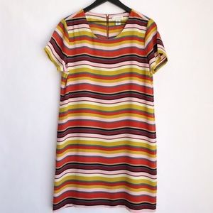Adrienne Vittadini Multi Striped Shift Dress